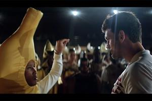 Rugby stars take on dancing bananas in HSBC's Hong Kong Sevens hip hop-style battle