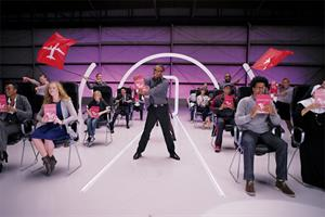 Virgin America singing safety with #VXsafetydance video