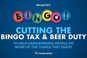 Tory chairman Grant Shapps under fire over 'beer and bingo' Budget 2014 ad
