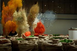Schwartz visualises the sound of taste with several tonnes of herbs and spices