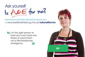 GP fronts poster campaign to reduce use of A&E