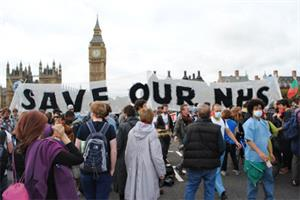 GPs join NHS reform 'block the bridge' protest