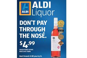 Aldi plays on wine snobbery in post-Dry Jan booze campaign