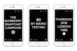 Burberry uses Snapchat to give backstage access to a Testino shoot in 'real-time'