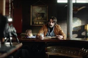 Cravendale spot stars a handlebar-moustached heavy (milk) drinker