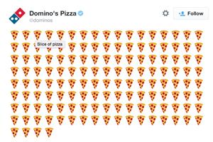 Domino's lets customers order pizza through emoji