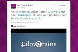 East Coast Trains jumps on board Twitter's video service