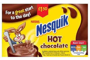 Nesquik banned from describing hot chocolate as a  'great start to the day'