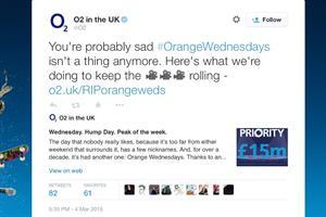 O2 resurrects EE's Orange Wednesdays in cheeky marketing stunt