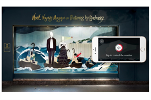 Burberry goes interactive for Printemps Christmas window display
