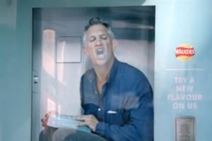 Watch: Gary Lineker doles out crisps from Tweet activated vending machine in Walkers ad