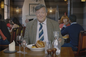 Stephen Fry and Graham Linehan send up British quirks in Heathrow spot