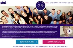 PHD celebrates 25th anniversary with yearbook microsite