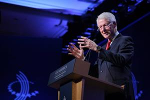Bill Clinton sticks up for Hillary, defends Clinton Foundation fundraising