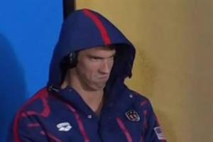 What brand real-timed #PhelpsFace best?