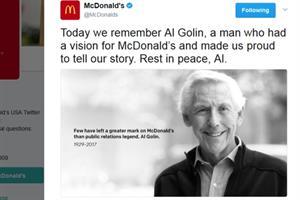 McDonald's honors Al Golin