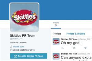 #Skittlegate day 2: Brand's PR team impersonated on Twitter