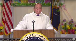 SNL puts Sean Spicer (back) in a bunny suit for Hitler comments