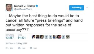 The end of the White House press briefing? Trump threatens on Twitter