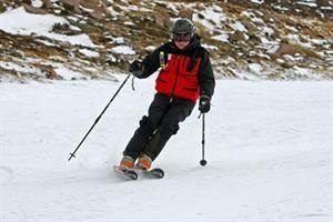 Working with a ski patrol