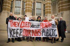 Police called as GP campaigner protests outside DoH