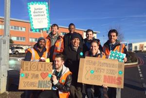 Junior doctors join 160 picket lines in second day of industrial action