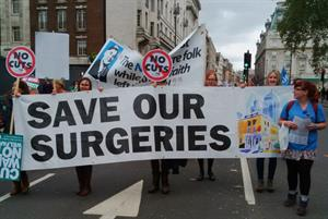 GPs join trade union march against austerity