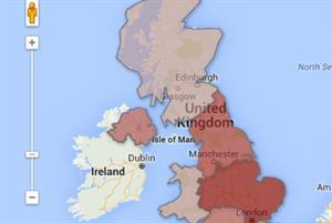Map: How UK GPs face a postcode lottery over income