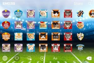 Hallmark Channel creates 'cat-lete' emojis to promote Kitten Bowl