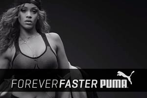 Rihanna gears up for Puma