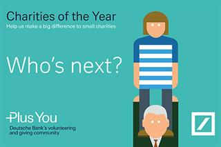 Be one of Deutsche Bank's Charities of the Year 2018-19