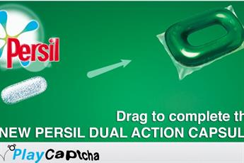 Unilever replaces Captcha words with Persil game