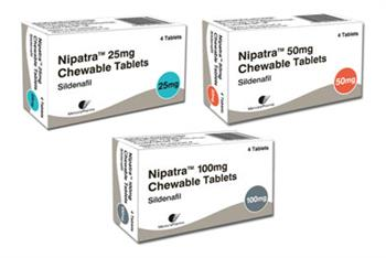 Nipatra: chewable sildenafil tablet for erectile dysfunction