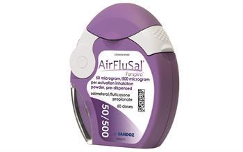 New salmeterol/fluticasone dry powder inhaler for COPD