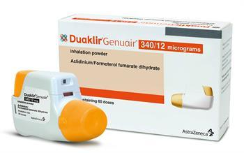 Duaklir Genuair inhaler now orange and white