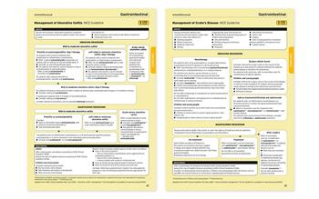 Summaries of NICE bowel disease guidance published by MIMS