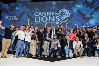 BBDO and WPP take top company awards at Cannes Lions