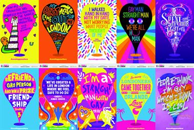 Pride outdoor campaign will fill London with colourful stories of love and affirmation