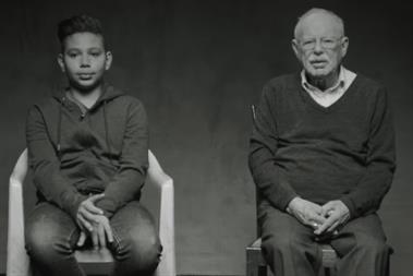 Holocaust survivor Henry Jacobi explains his role in Unicef's refugee film