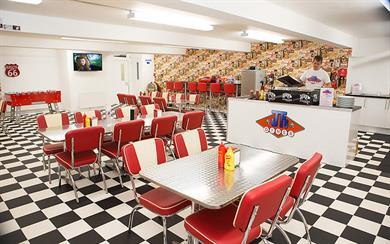JT's Diner at Team Spirit HQ