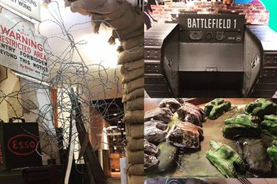 Battlefield 1 was launched using a WW1 set