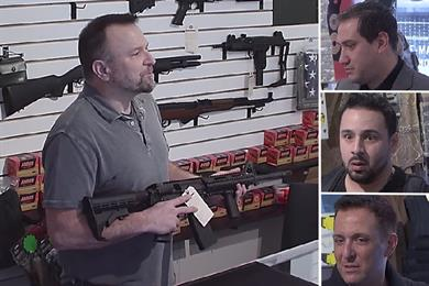 Gun shoppers are shocked into abandoning their purchase at #GunsWithHistory fake store