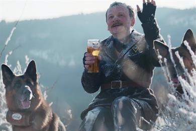 Kronenbourg brings back Eric Cantona for beer-delivering Alsatians spot