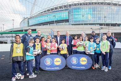 Lidl to fund 'hundreds of thousands' of FA coaching sessions from April