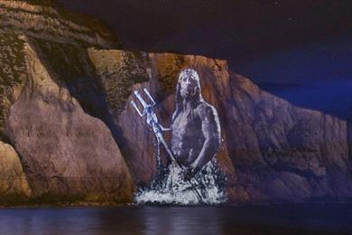 Neptune ascends White Cliffs of Dover for National Trust campaign