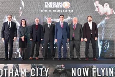 Turkish Airlines jet to play host to first face-off between Batman and Superman