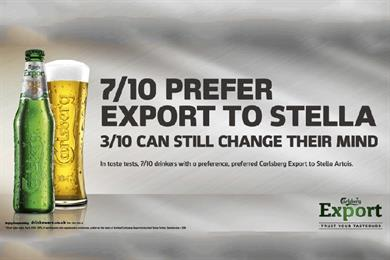 Carlsberg tackles Stella head-on in competitive spot