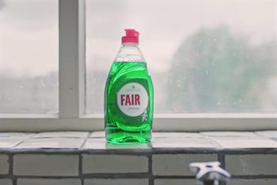 Women doing all the washing up isn't Fair(y), says P&G's washing-up liquid brand