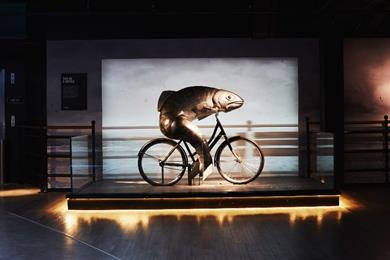 Guinness recreates 'fish on a bicycle' ad as real-life 3D animatronic fish