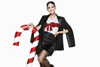 H&M teases Christmas campaign with Katy Perry